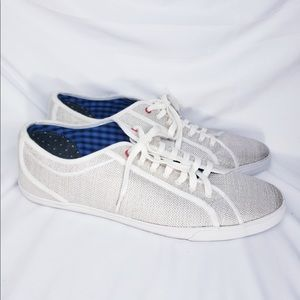 Ben Sherman - White Conall Suede-trimmed Low-tops